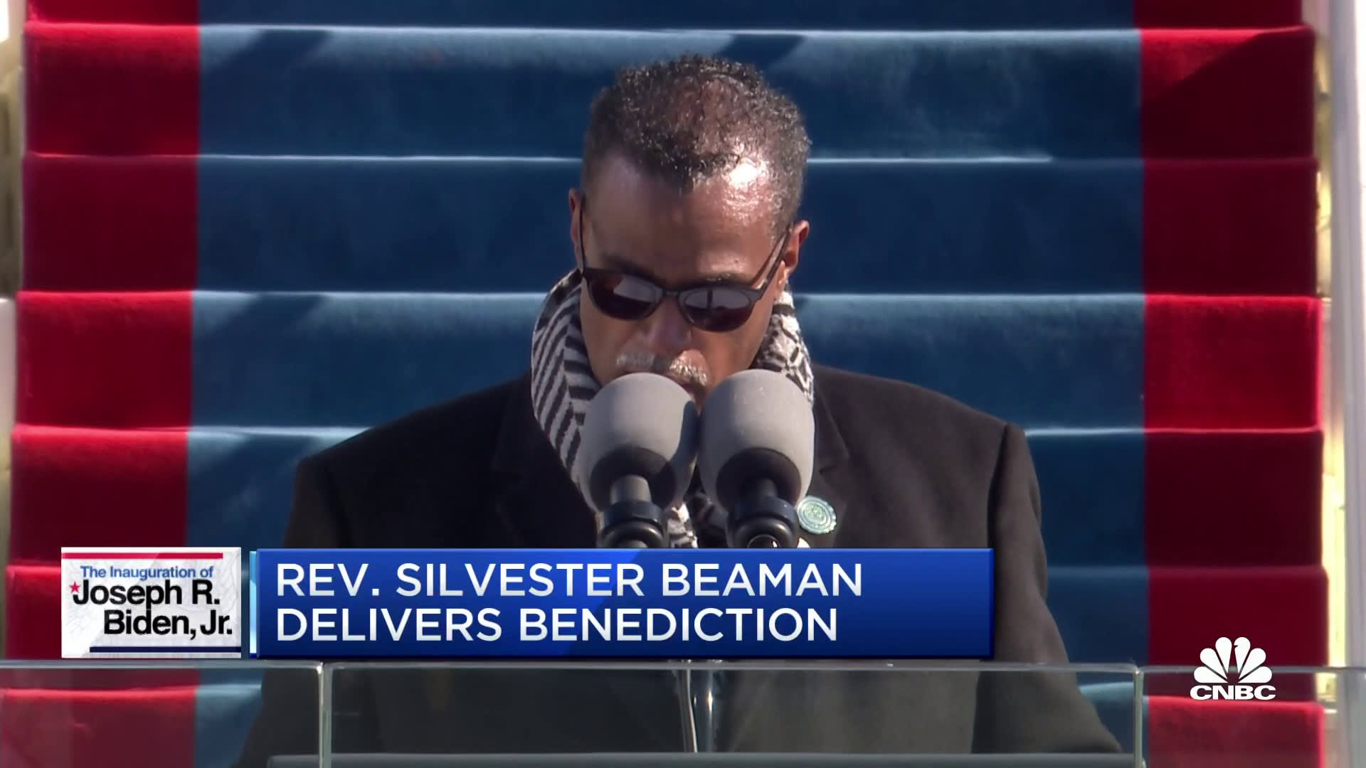 Rev. Silvester Beaman delivers benediction