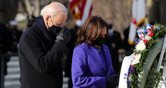 Inauguration updates: Biden and Harris attend ceremony at Tomb of Unknown Soldier in Arlington