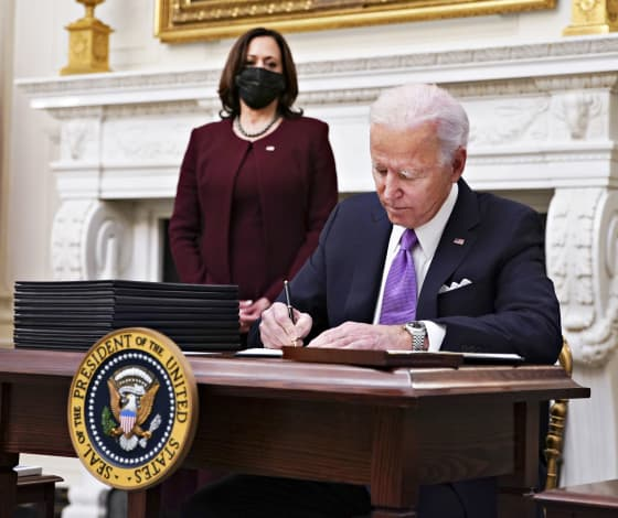 Biden to sign executive orders to boost food benefits, workers' rights as part of Covid relief push