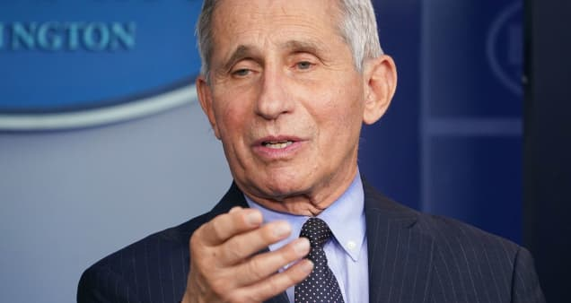 Dr. Fauci says new data shows Covid vaccines appear to be less effective against some new strains