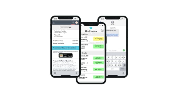 healthvana los angeles covid apple wallet