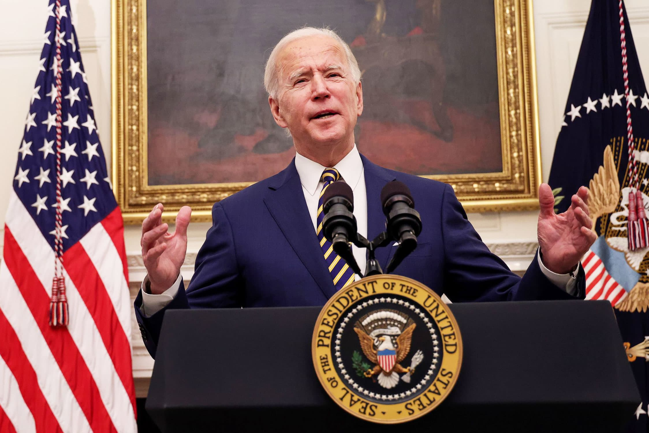 Biden signs executive orders to boost food benefits, workers' rights as part of Covid relief push