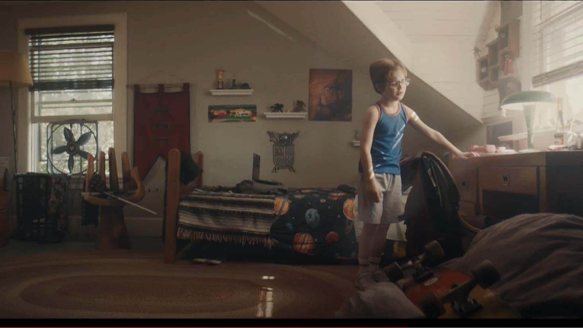 Still from E-Trade's teaser for its Super Bowl spot