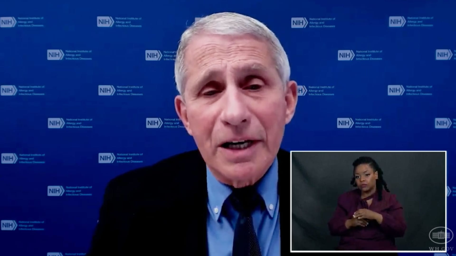 Dr. Anthony Fauci on White House virtual press conference