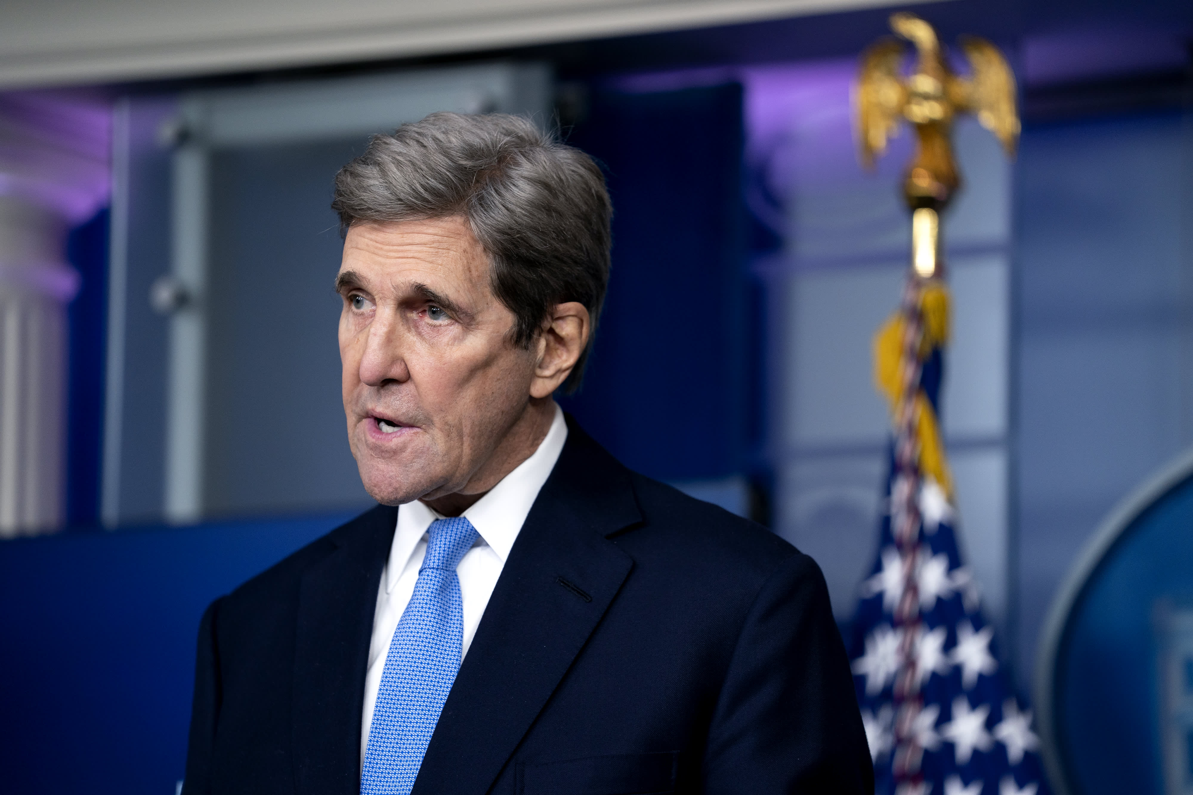 John Kerry states Biden's ambitious climate strategy is 'not a counter to China' thumbnail