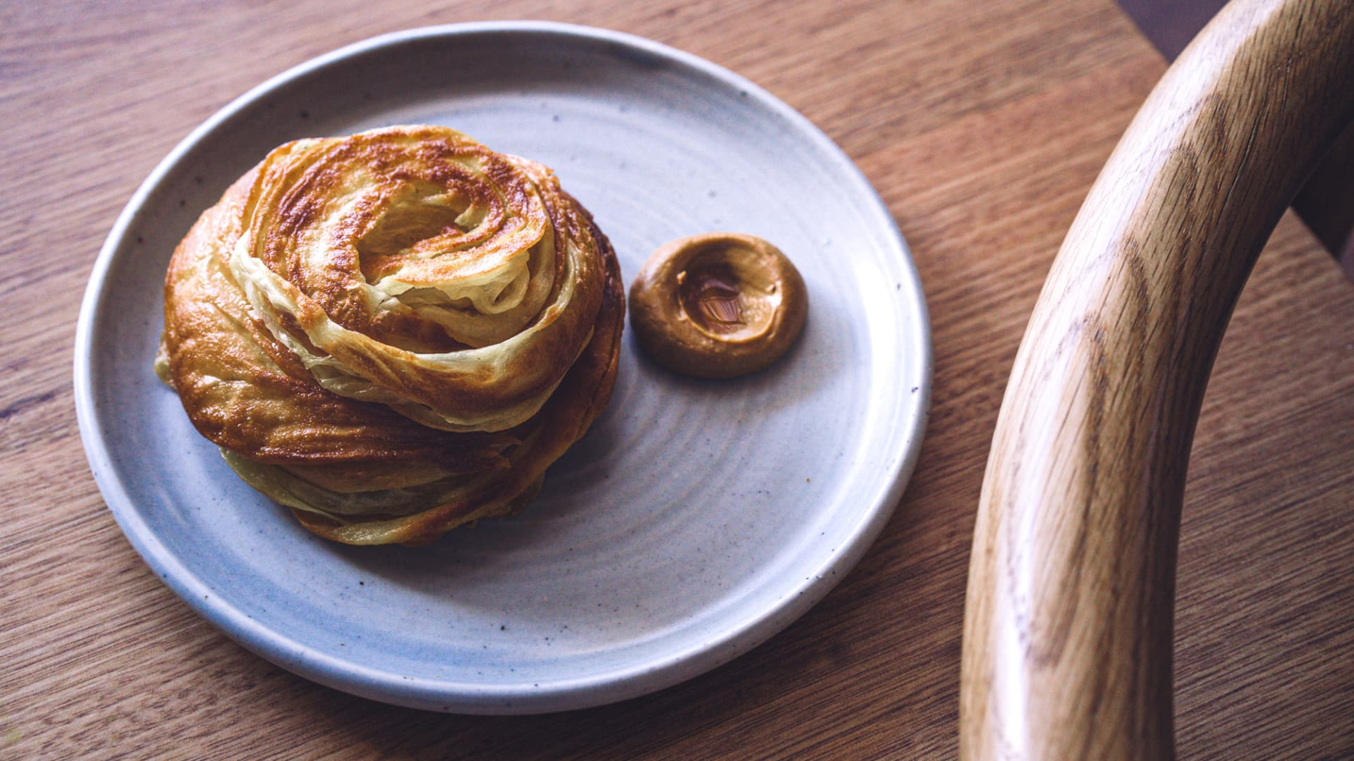 Sunda's buttery roti is served alongside a paste-like 'curry' laced with Vegemite.
