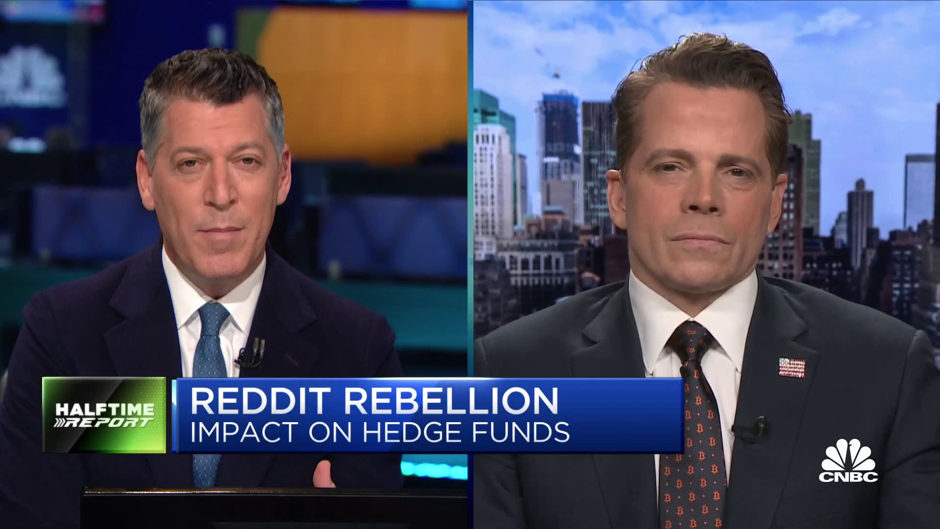 CNBC's full interview with Anthony Scaramucci on GME, bitcoin
