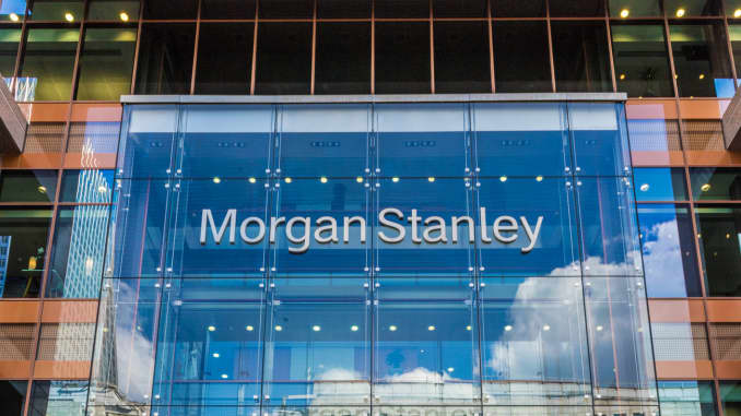 Morgan Stanley offices in Canary Wharf in London