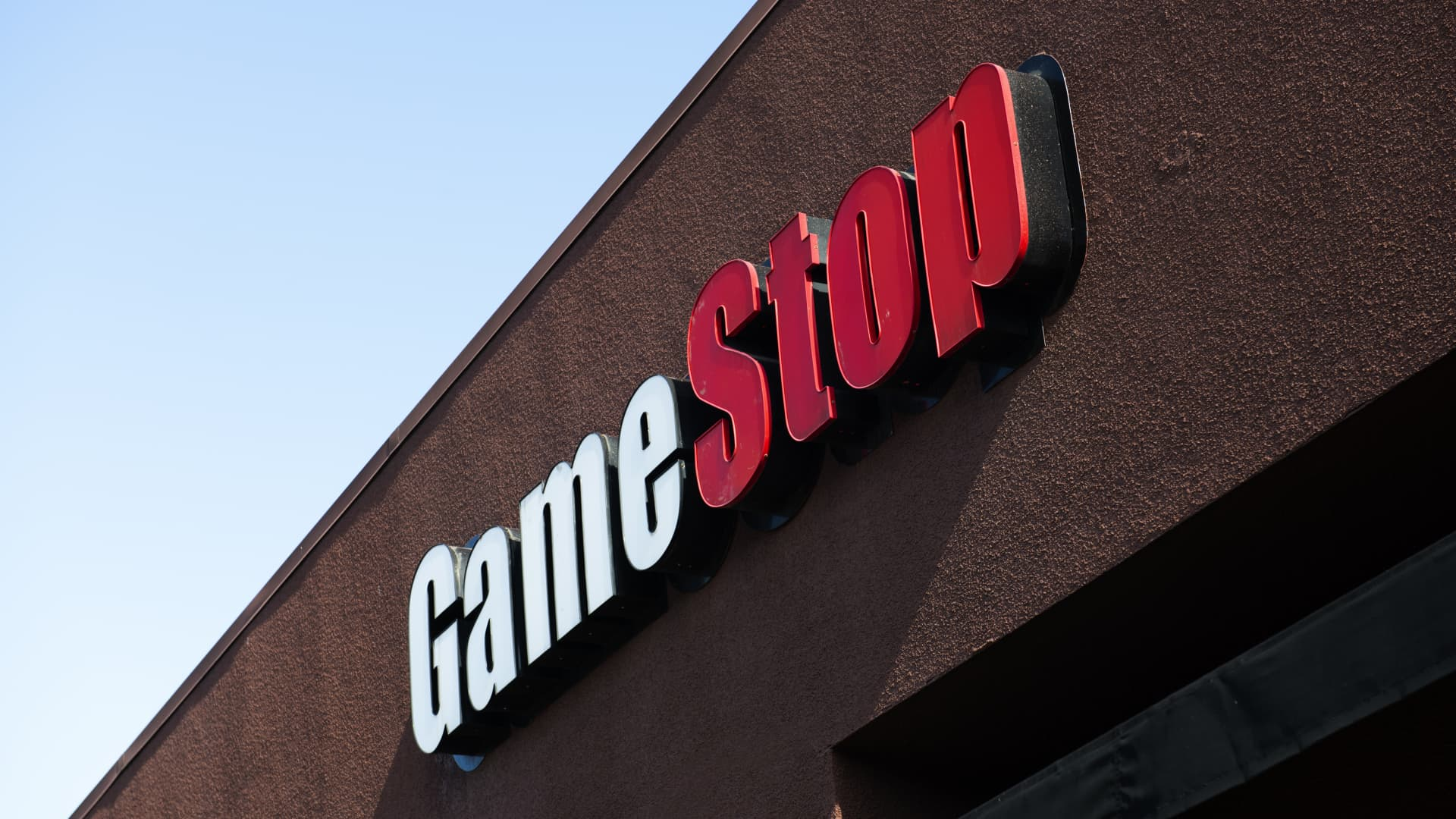 GameStop logo is seen at one of their stores in Emeryville.