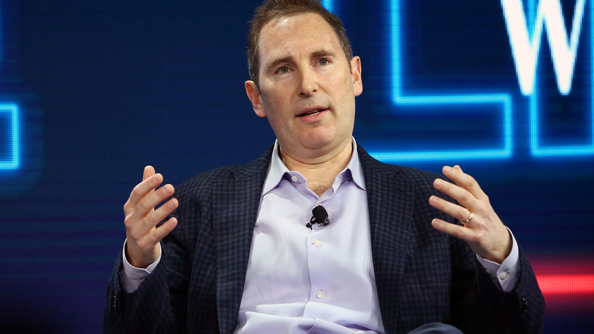 Andy Jassy, CEO Amazon Web Services, speaks at the WSJD Live conference in Laguna Beach, California, October 25, 2016.