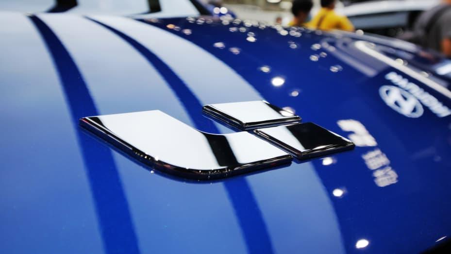 Một chiếc SUV hybrid Li Xiang One được trưng bày trong Triển lãm Ô tô Quốc tế Quảng Châu lần thứ 18 tại Khu Liên hợp Hội chợ Xuất nhập khẩu Trung Quốc vào ngày 23 tháng 11 năm 2020 ở Trung Quốc.