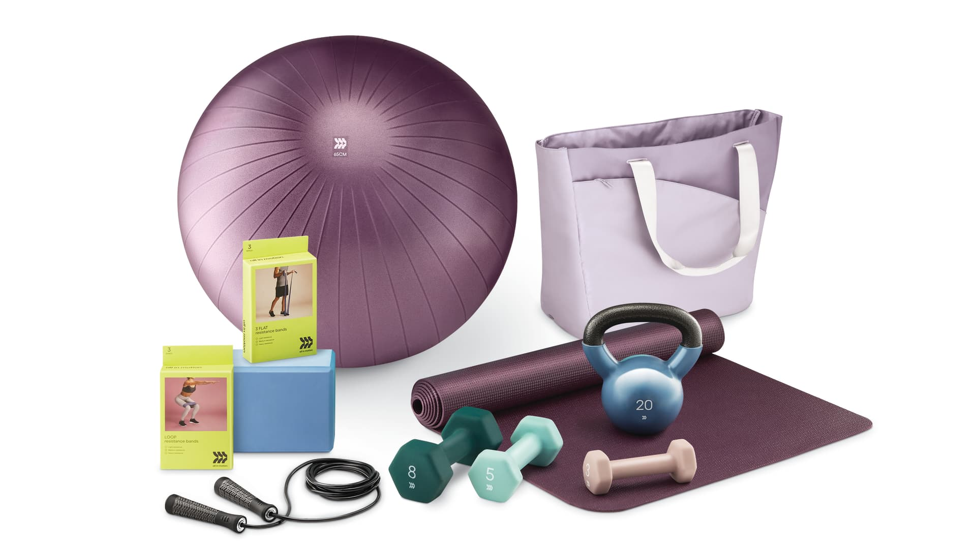 Target's All in Motion line also includes hand weights, yoga mats and other workout accessories and equipment.