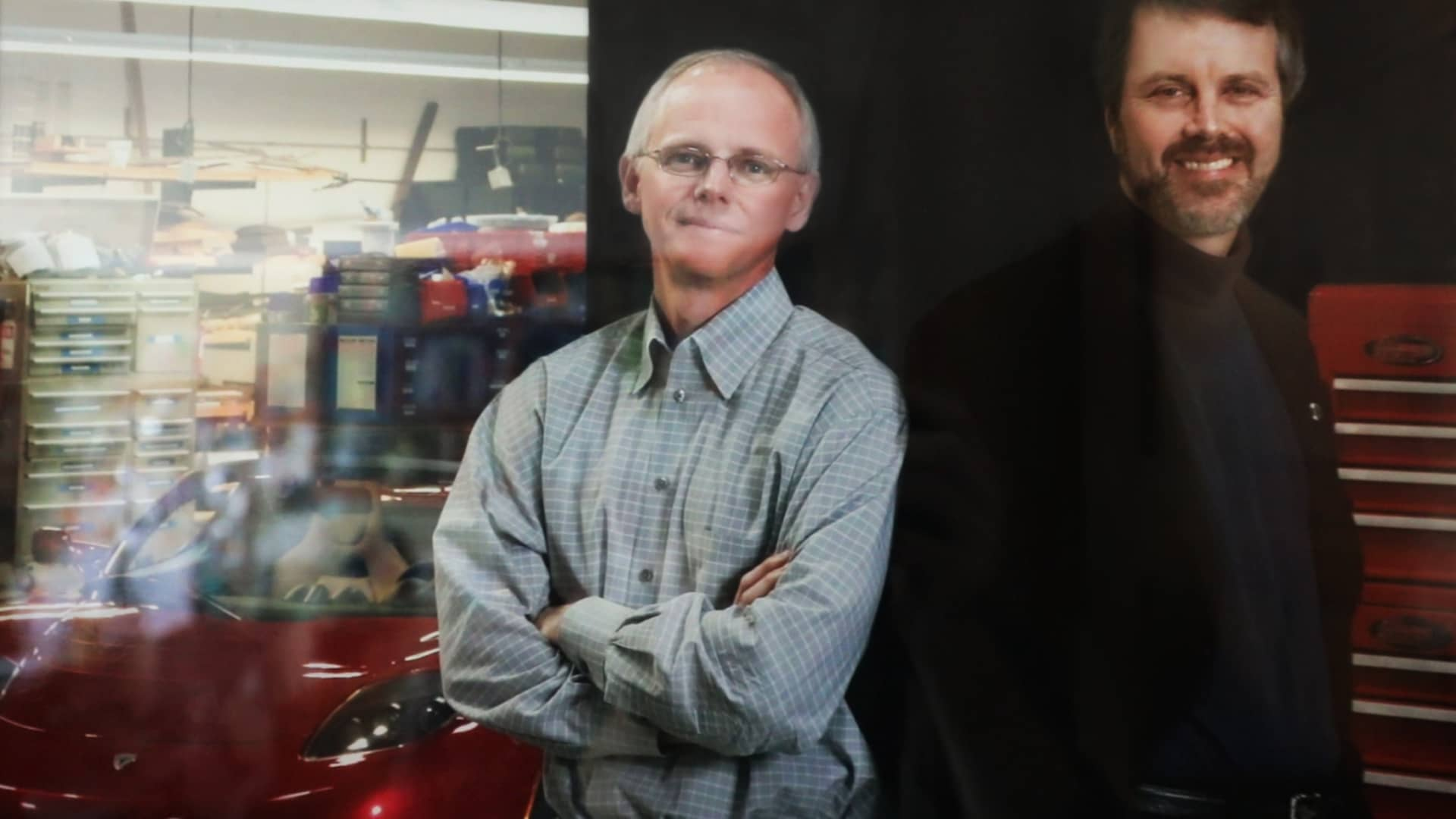 Marc Tarpenning and Martin Eberhard during the early days at Tesla Motors.