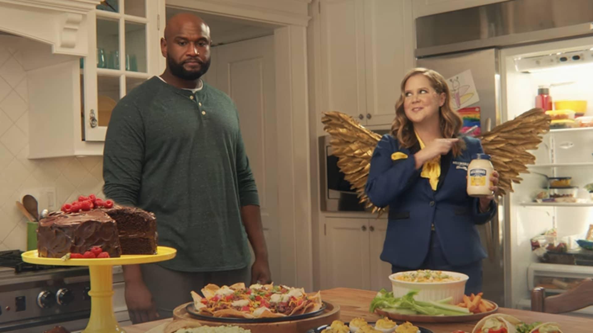 Still from Hellmann's Super Bowl ad.