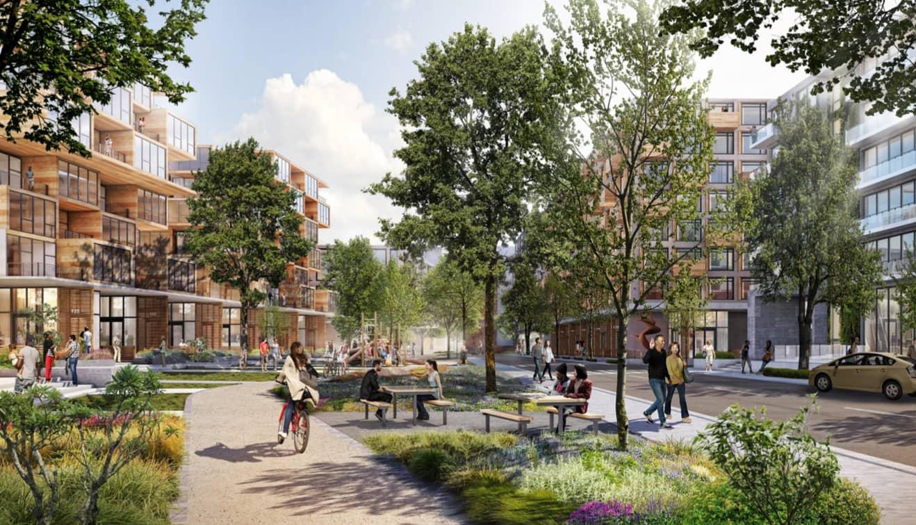 Google touts budget-friendly housing, regional shops in new Mountain View campus proposal thumbnail