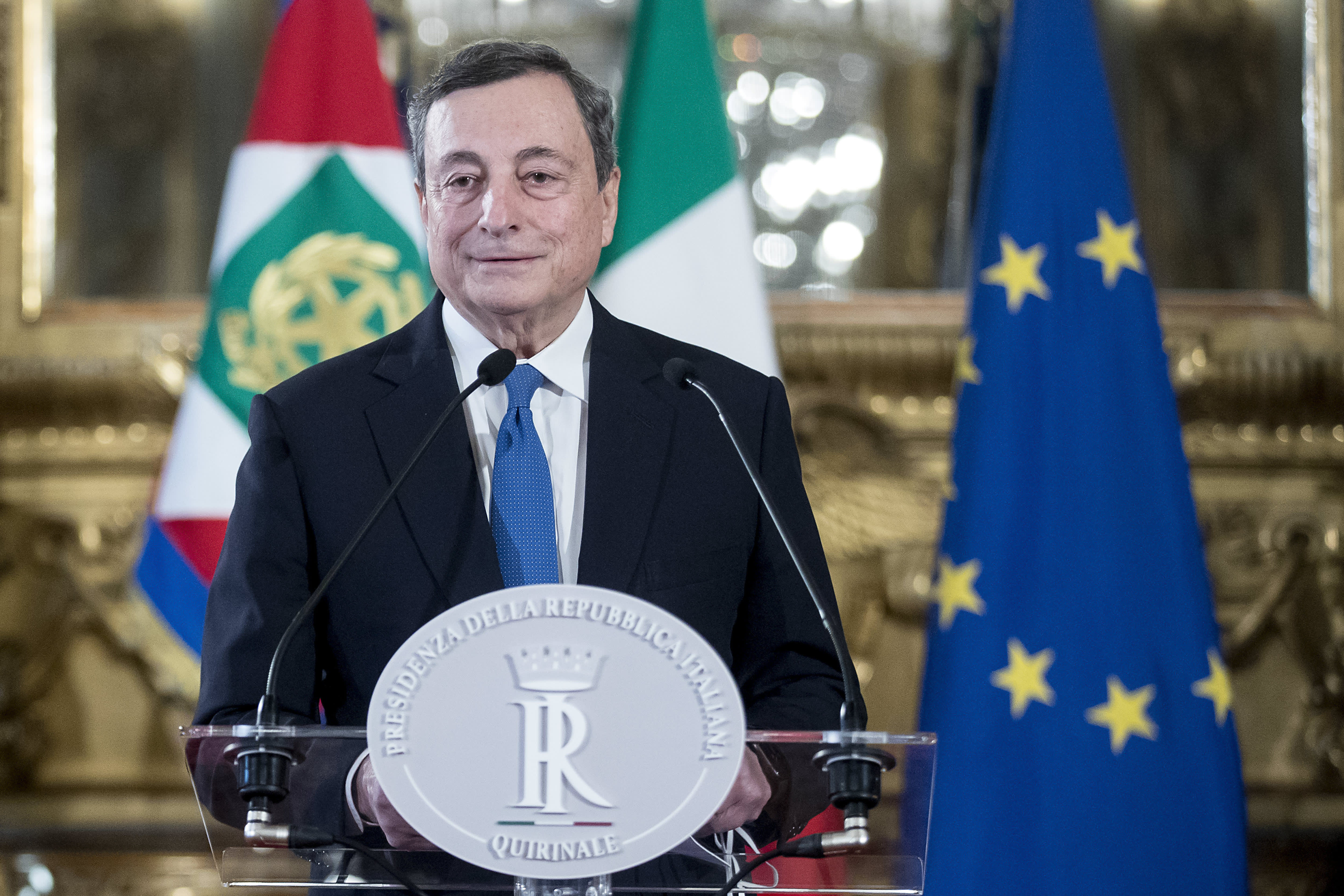Mario Draghi wins the support of Five-Star Movement
