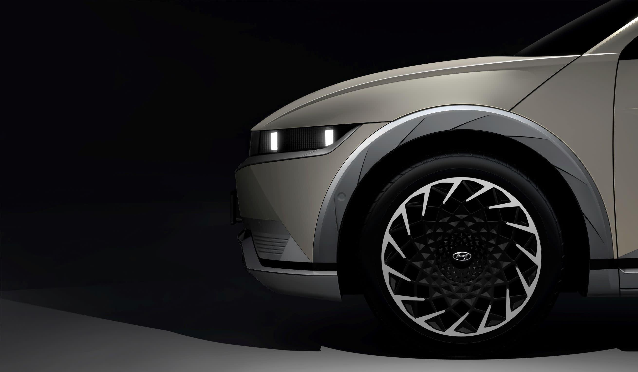 Sliding console of the new electric crossover Hyundai Ioniq 5