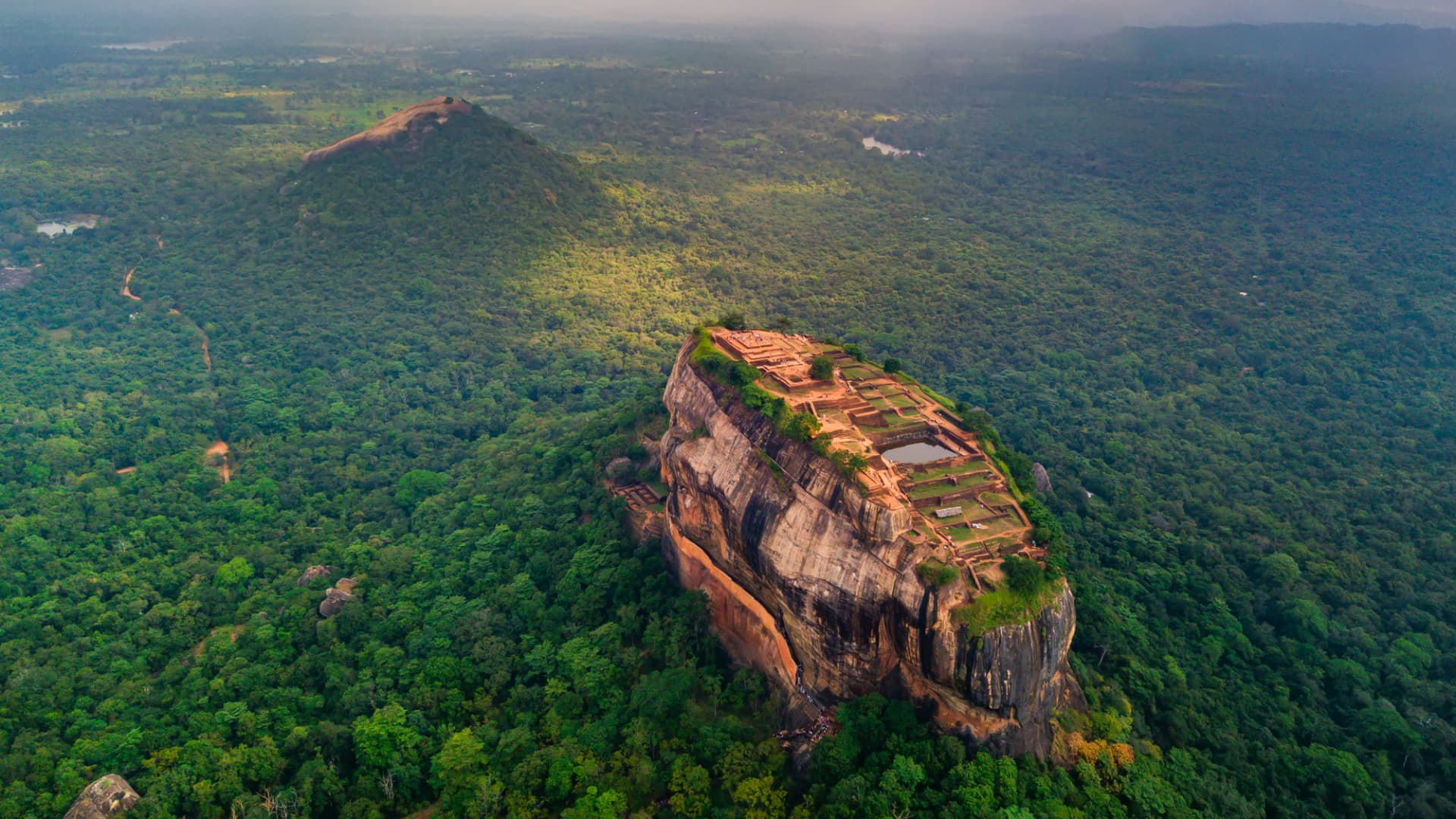 An ancient palace once stood on the top of the 660-foot Sigiriya rock, a UNESCO World Heritage site that is on the list of approved tourist sites.