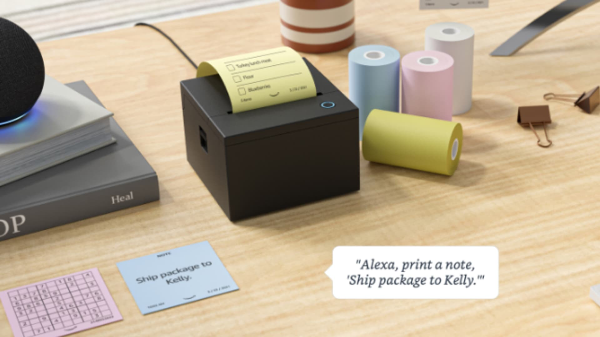 Amazon's smart sticky note printer