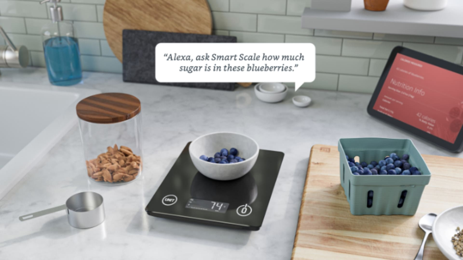 Amazon's smart nutritional scale.