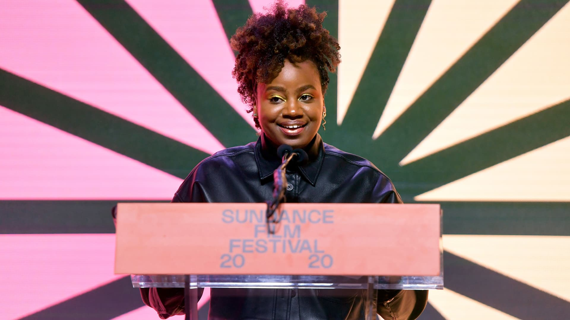 Dee Rees speaks onstage during the 2020 Sundance Film Festival Awards Night Ceremony at Basin Recreation Field House on February 01, 2020 in Park City, Utah.