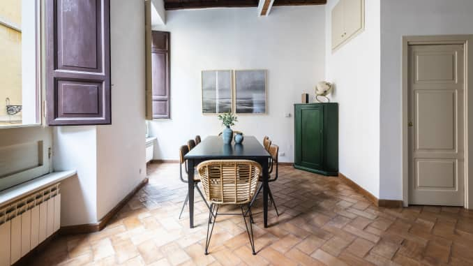 A four-bedroom apartment in Rome that is available to rent through Sonder.