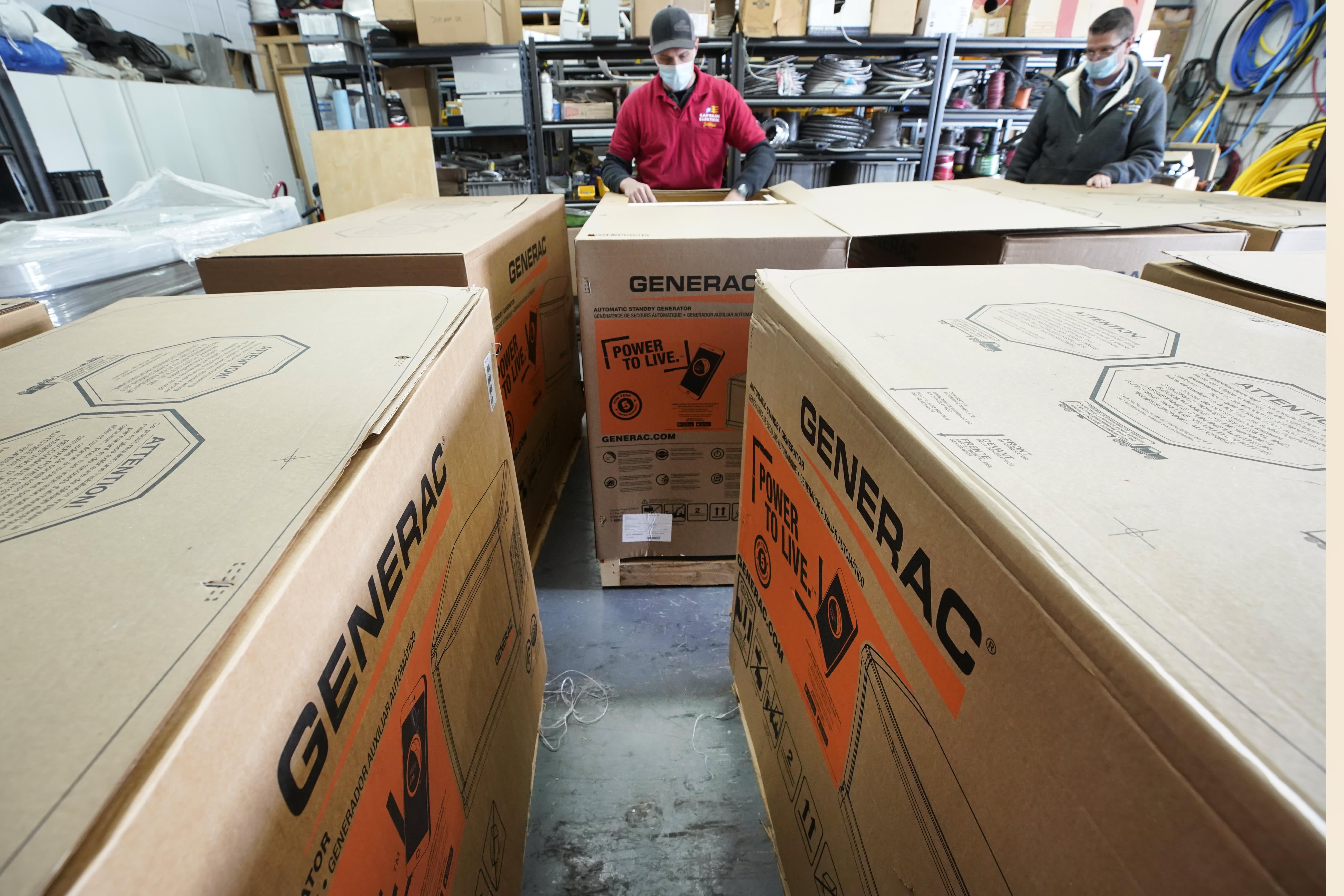 Generac posts record quarter, but supply constraints send stock tumbling