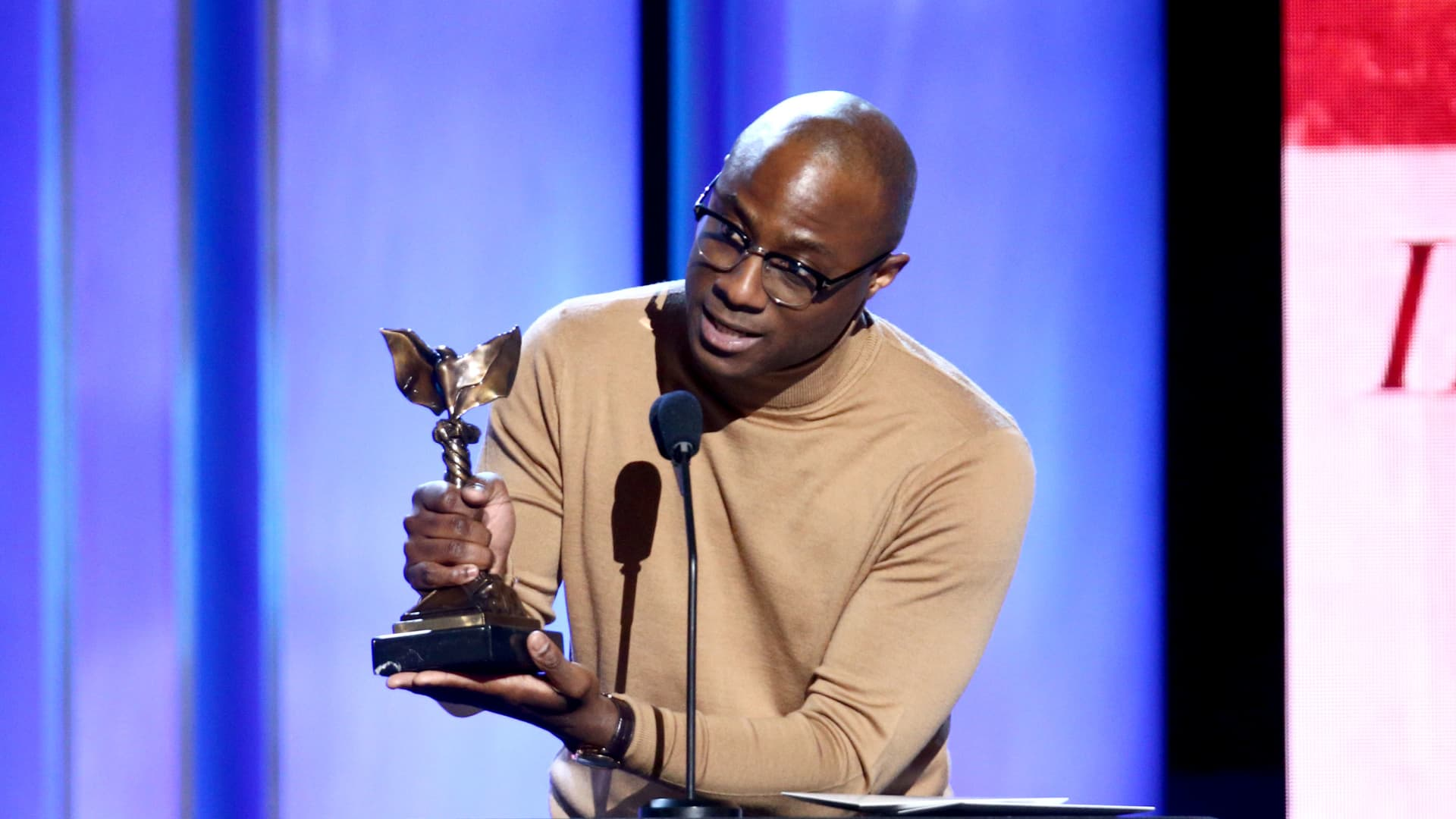 """Barry Jenkins acceptsBest Director for """"If Beale Street Could Talk"""" onstage during the 2019 Film Independent Spirit Awards on February 23, 2019 in Santa Monica, California. (Photo by Tommaso Boddi/Getty Images)"""