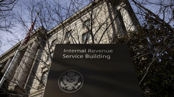 The Internal Revenue Service (IRS) headquarters in Washington, D.C., U.S., on Saturday, Jan. 2, 2021.