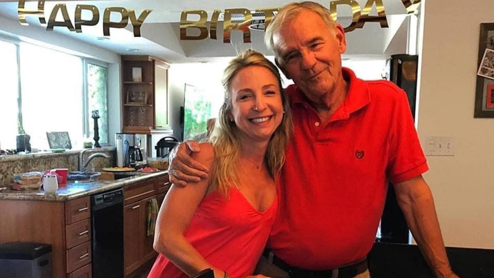 Tara Krebbs and her father, Charles Krebbs