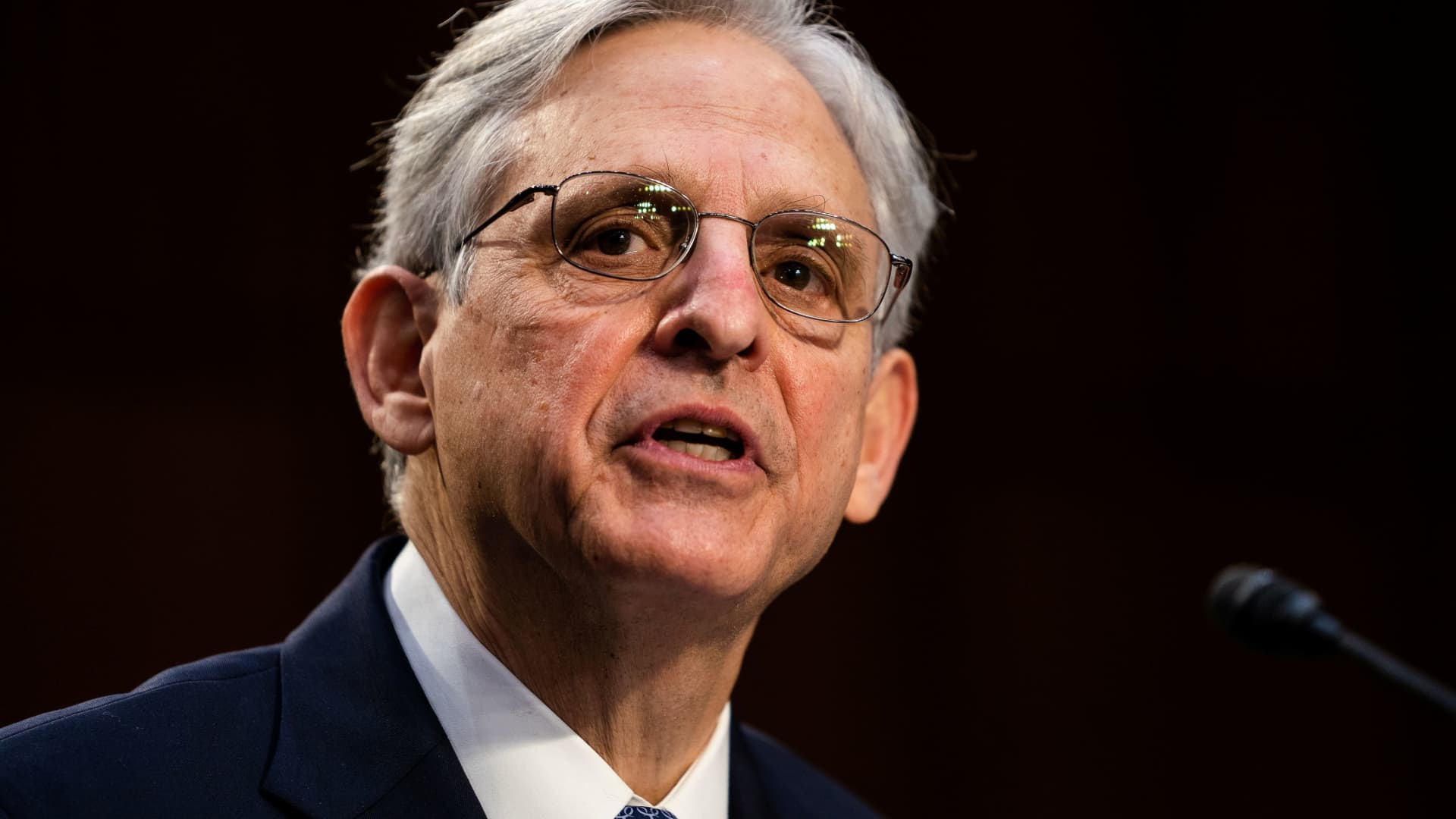 Nominee for U.S. Attorney General, Merrick Garland, during his swearing in confirmation hearing before the Senate Judiciary Committee, Washington, DC, February 22, 2021.