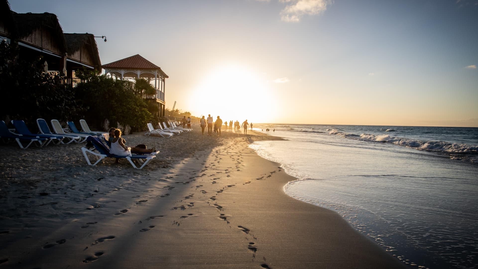 A general view of Varadero beach in Cárdenas, Cuba.