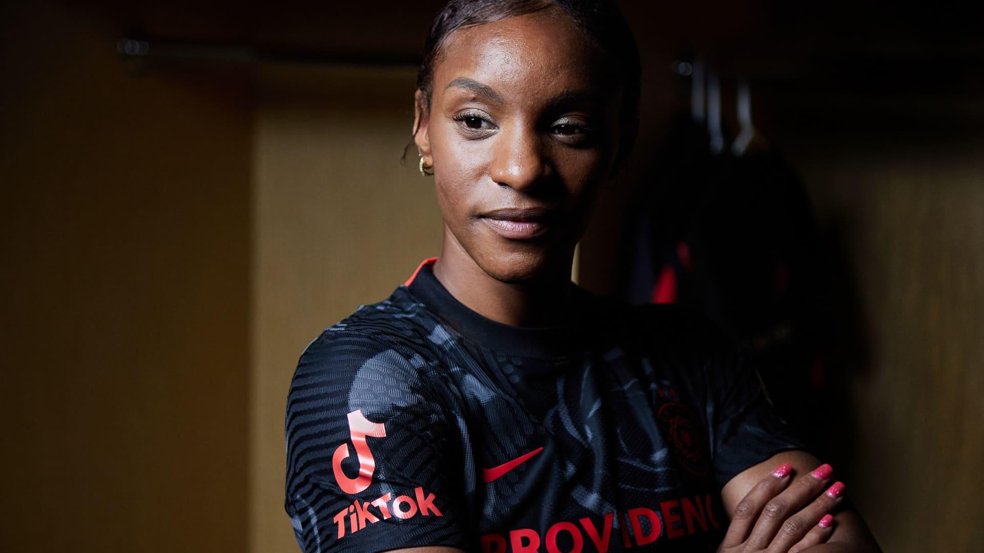Crystal Dunn of the Portland Thorns FC.