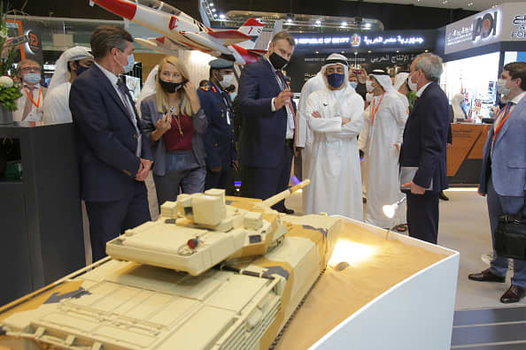 Middle East arms fair goes ahead despite pandemic as forecasters see a 10% drop in Gulf spending