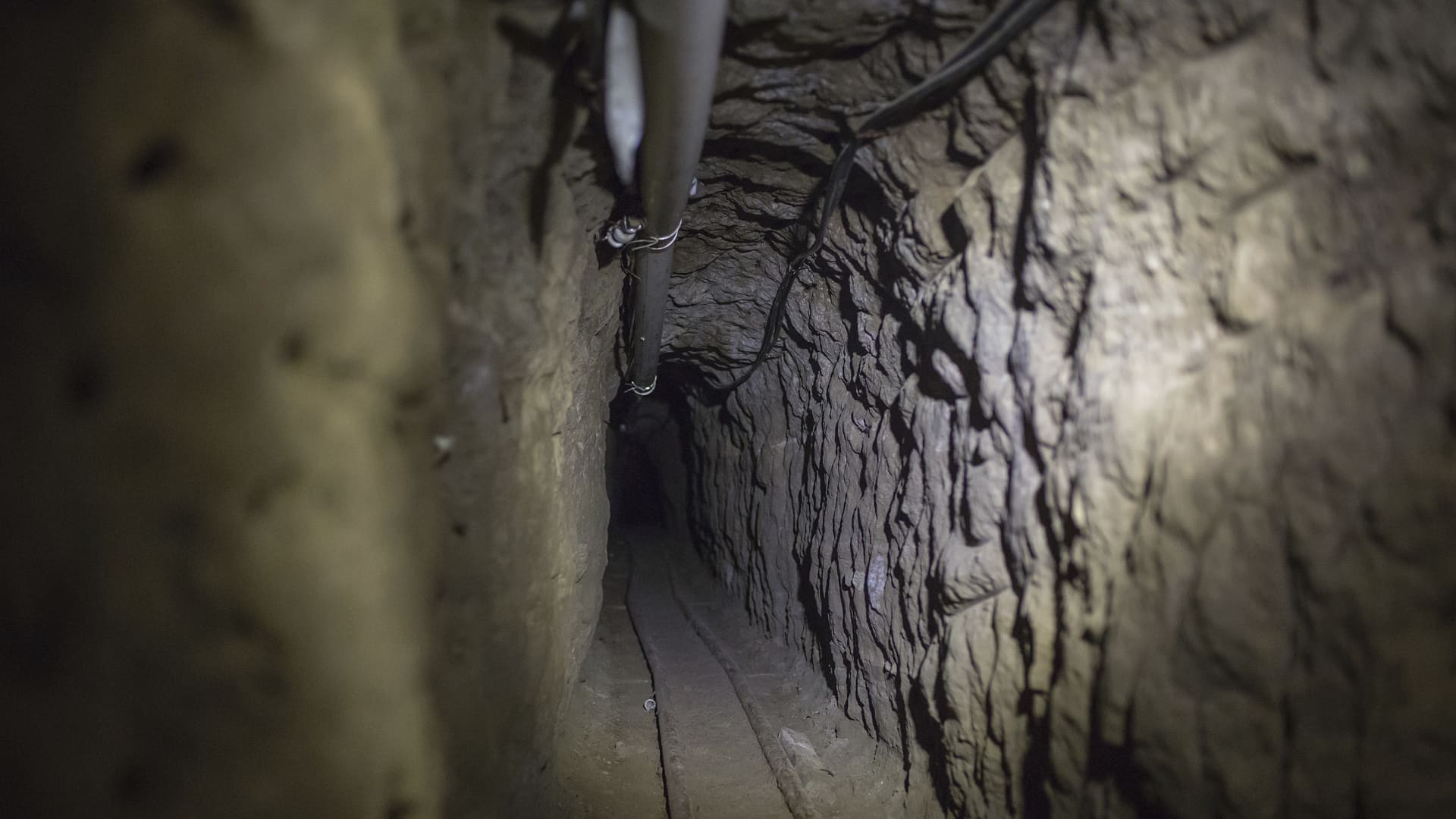 A view of the tunnel through which according to the authorities Joaquin 'El Chapo' Guzman escaped from Mexican Maximum Security Prison of 'El Altiplano' on July 15, 2015 in Mexico City, Mexico.