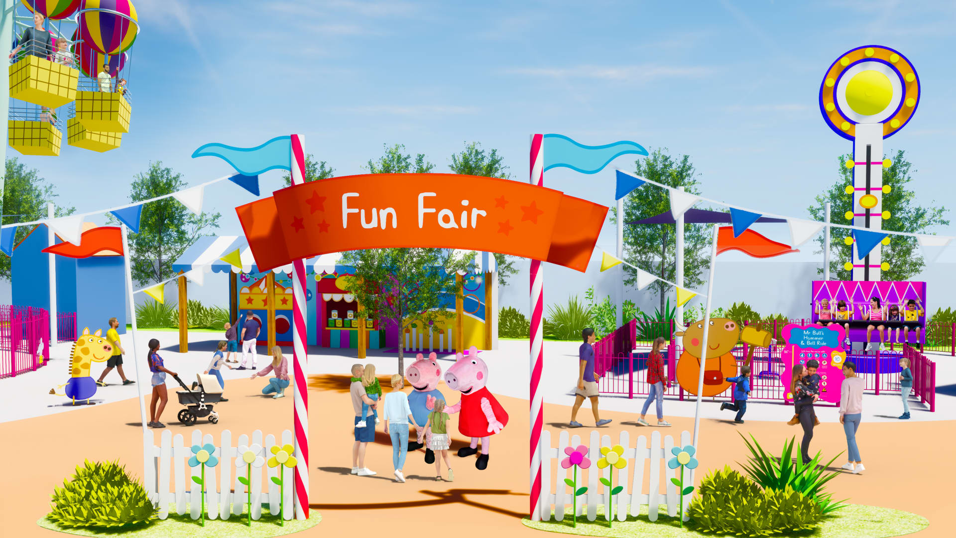 The Peppa Pig theme park is all-new standalone theme park that will feature multiple rides, interactive attractions, themed playscapes and water play areas.