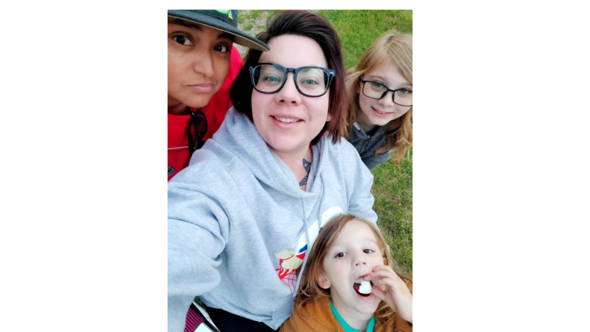 Shay Martinez-Machen and her wife America Martinez live in an RV with their two children.