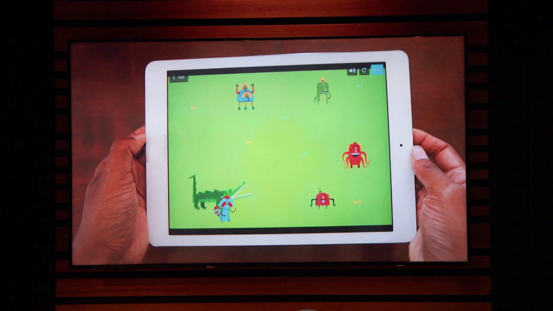 Hopscotch, an app that teaches kids to code.