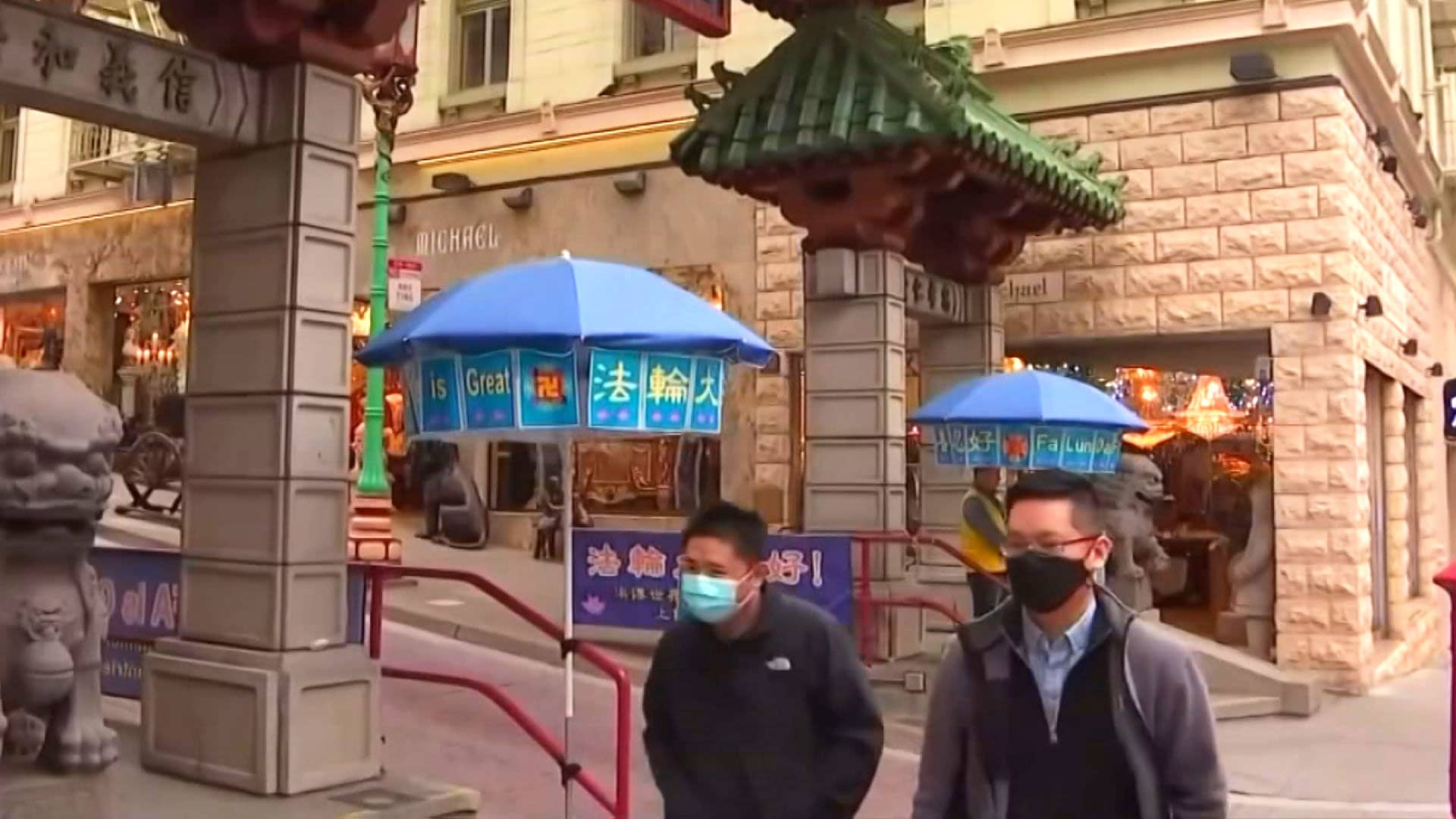 A street scene in Chinatown, San Francisco