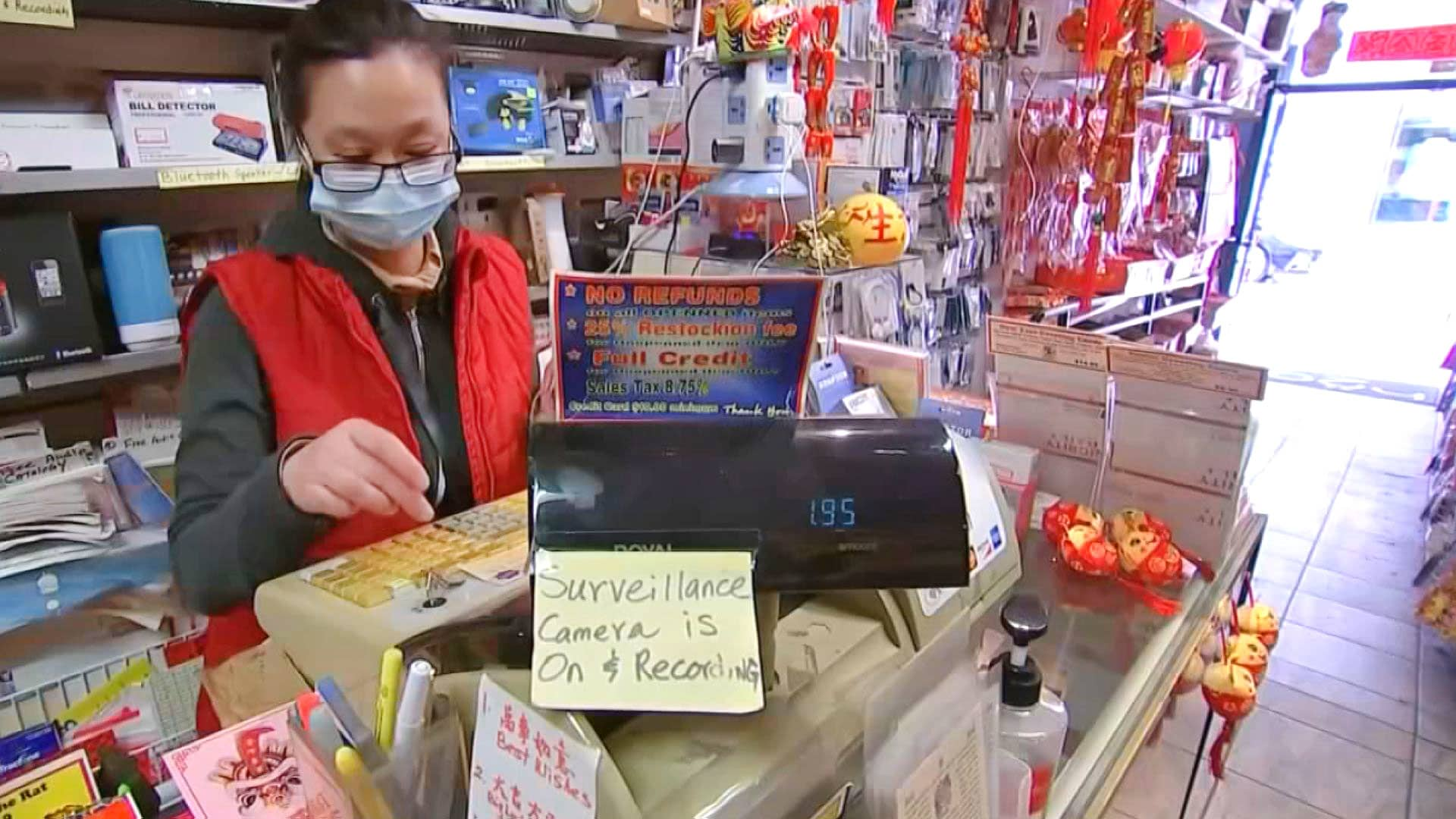 A small business owner in Chinatown, San Francisco