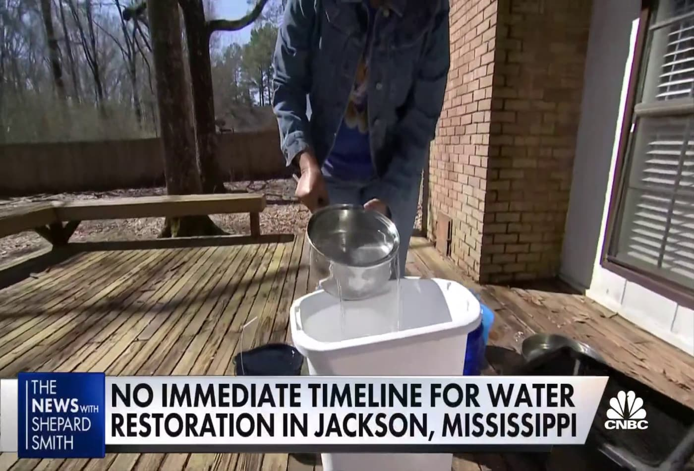 Mississippi's largest city doesn't have running water, or a timeline for when it will be fixed
