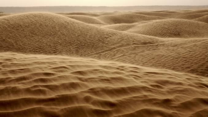 Sand dunes in the Sahara desert.
