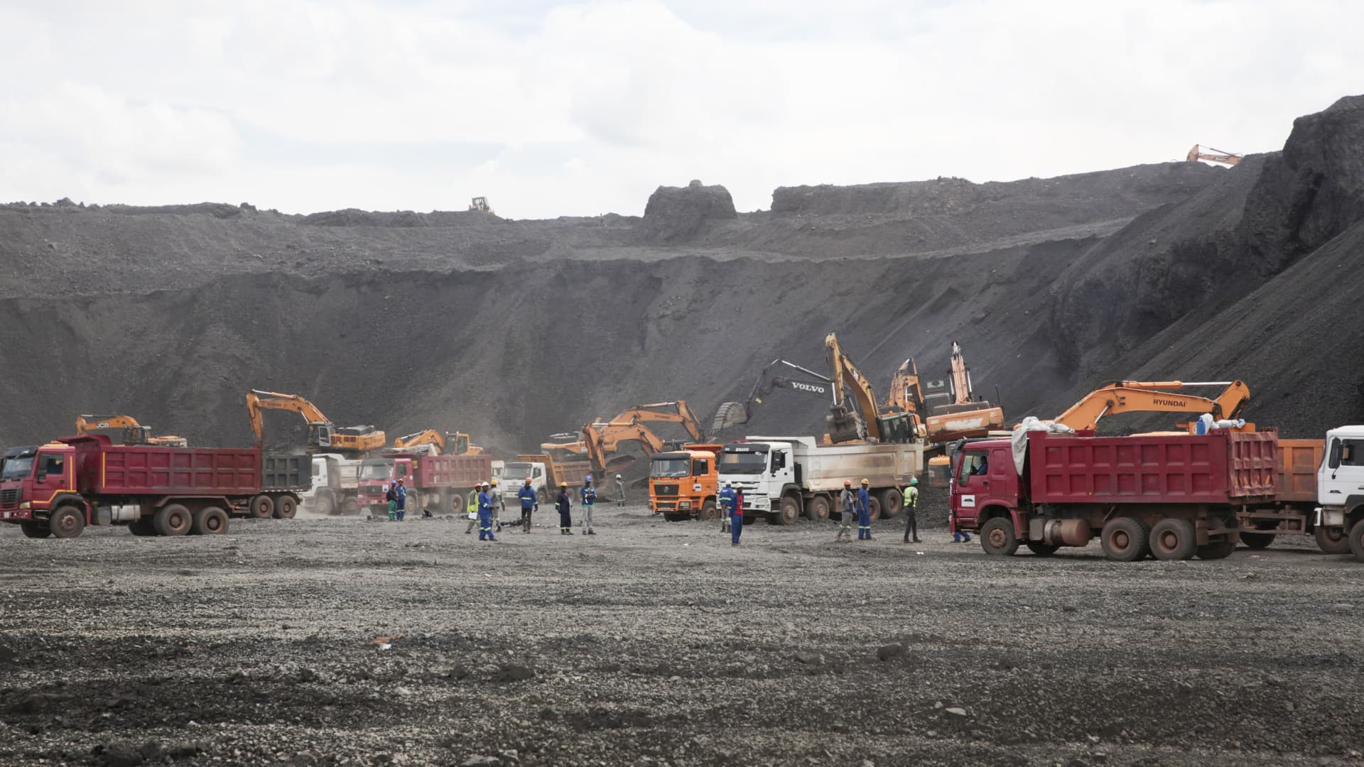 Kitwe, ZAMBIA - Copper is mined at the Mopani Glencore copper mine on January 09, 2019 in Kitwe, Zambia.