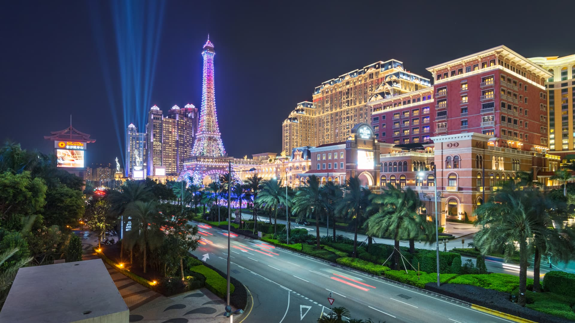 The Cotai Strip is located on the island of Cotai, a portmanteau reflecting the reclamation project that joined the two Macao islands of Coloane and Taipa in 2005.