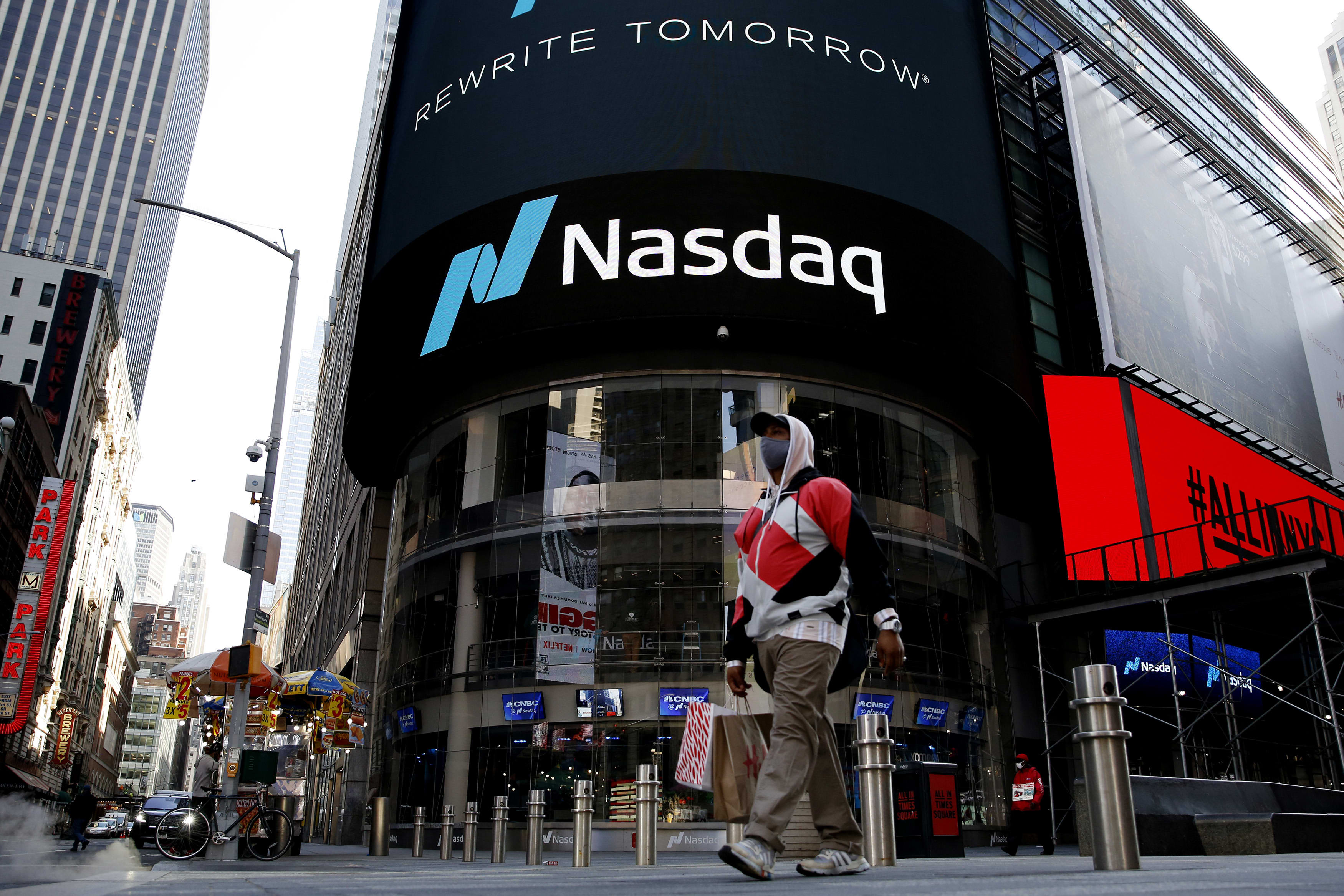 Nasdaq rebounds more than 1% as investors buy the tech dip, Dow rises more than 200 points