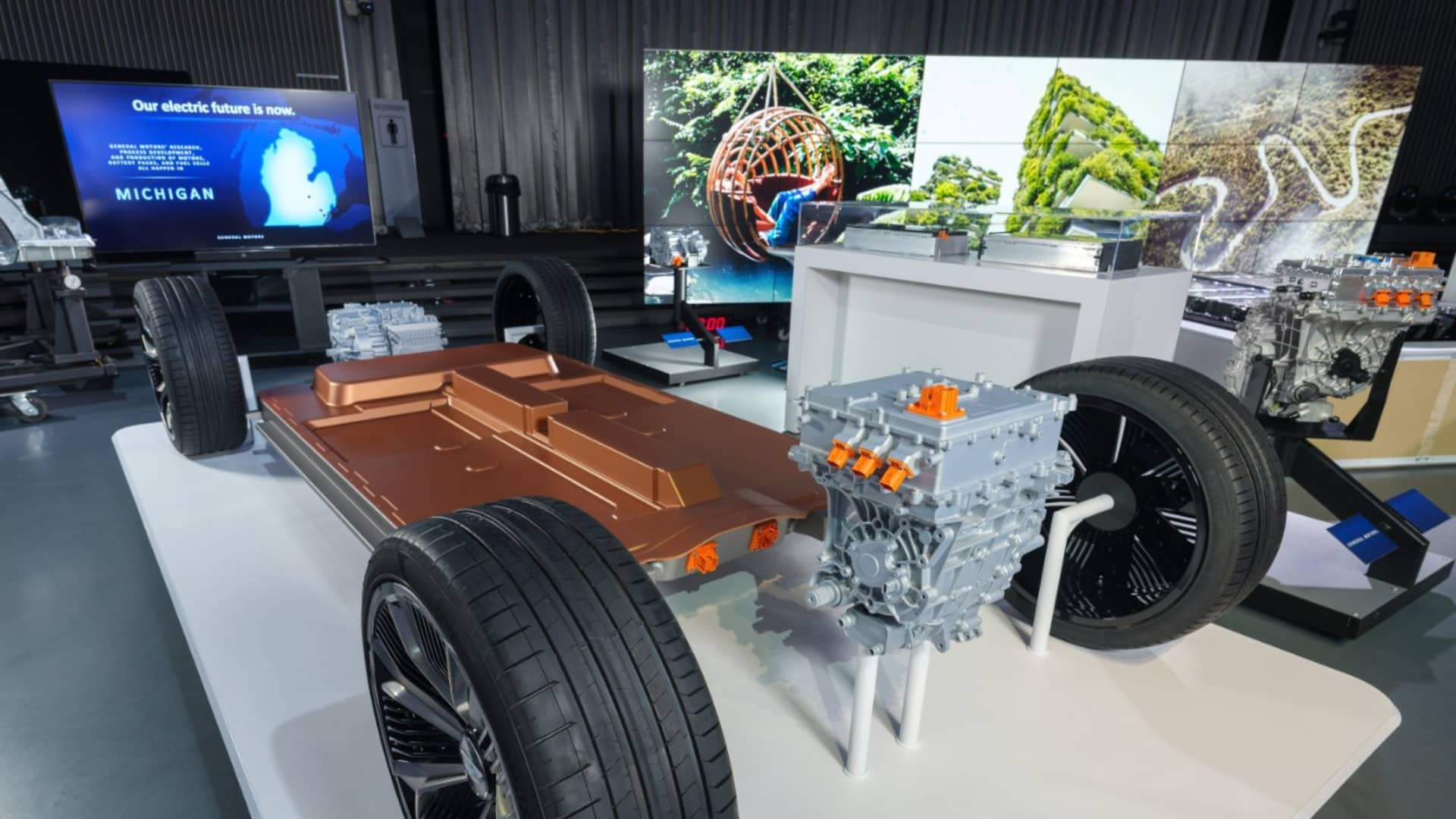 General Motors revealed its all-new modular platform and battery system, Ultium, on March 4, 2020 at its Tech Center campus in Warren, Michigan.