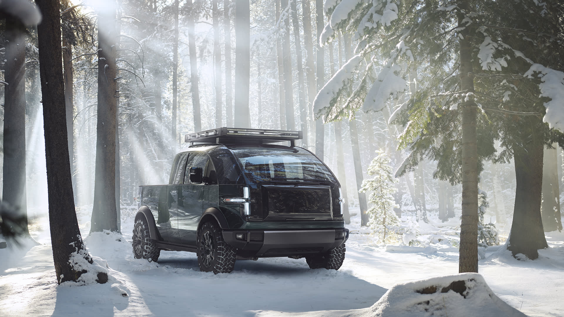 EV start-up Canoo unveiled its electric pickup on March 11, 2021.