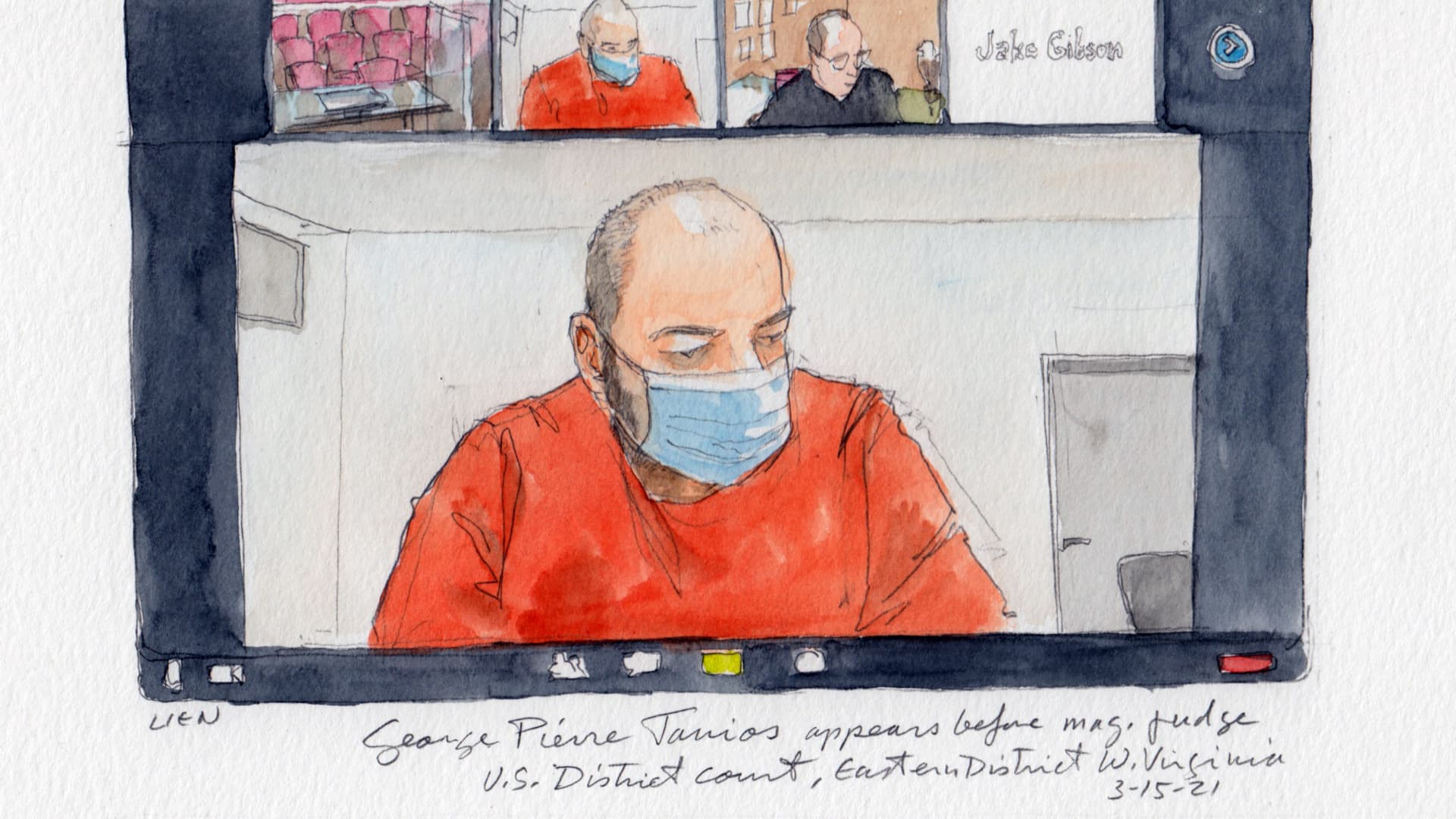 George Tanios from his court appearance, March 15, 2021.