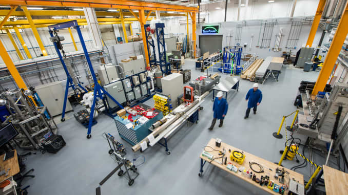 Inside TerraPower's lab.