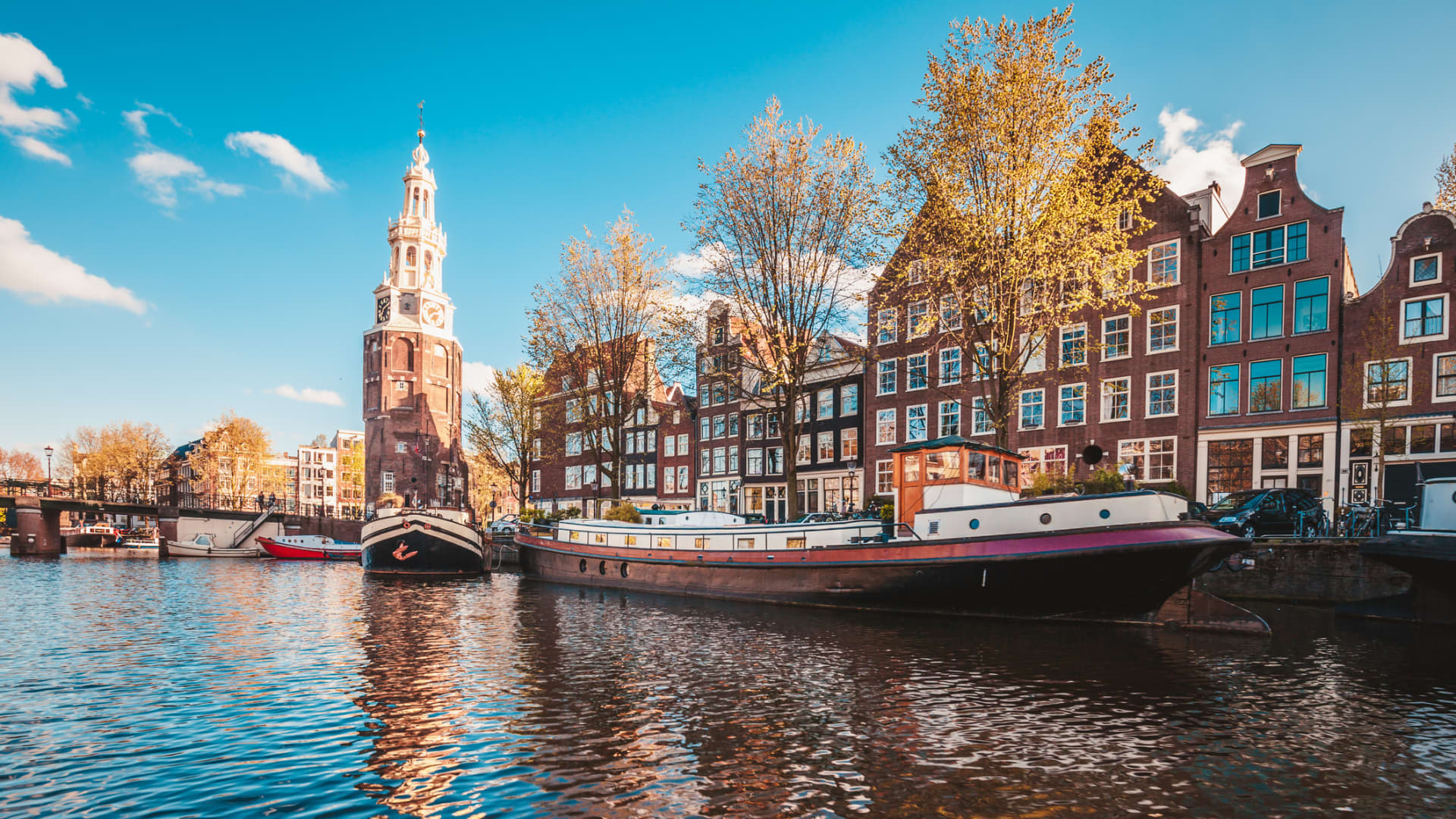 Historic center of Amsterdam, the capital city of the Netherlands.